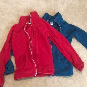 Nike fleece running jackets